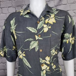 Tommy Bahama Silk Floral Camp Shirt Large
